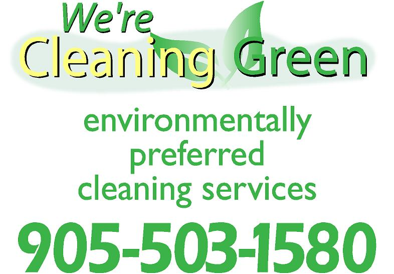 We`re Cleaning Green