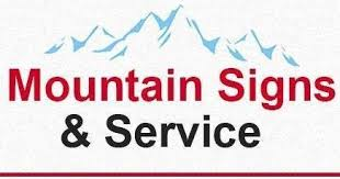 mountain signs and service